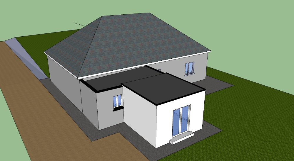 Flat Roof Extenion On A Doubled Hipped Roof Diynot Forums