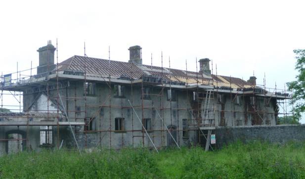 Irish Workhouse Centre Portumna chimney replastering