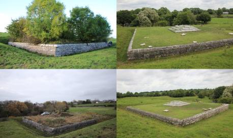 The Gregory Mausoleum before & after